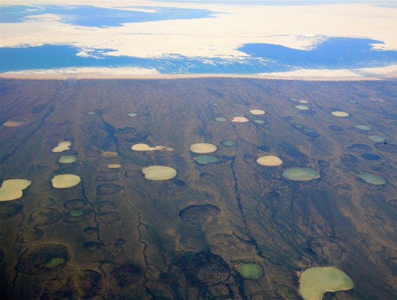 Permafrost, permafrost thaw, permafrost decay, permafrost collapse, permafrost disintegration, climate, climate change, global warming, environment, Arctic, Canada, landscape, terrain, carbon dioxide, carbon