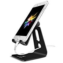 Lamicall Adjustable Universal Phone Stand (Black,Silver)
