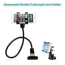 BESTEK Gooseneck Phone Stand Holder +Car Suction Mount Combo, Fits iPhone and other Smart Phones