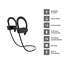 Bluetooth Wireless Headphones,TANYAM IPX7 Waterproof Sports Running Bluetooth 4.1 Wireless Earphones Earbuds Headsets Earphone with Mic Noise Cancelling for Jogging Cycling Exercise Runing Hiking