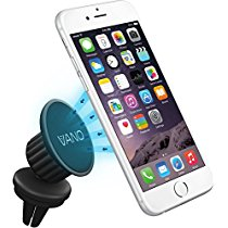 Vano Magnetic Car Mount, Universal Air Vent Cell Phone Holder for iPhone 5 6 7, GPS, Smartphone, RV, Truck – Easy to Use with Extra Metal Plates - Safely View Your Mobile Phone (360° Rotation)