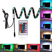 EveShine Neon Accent LED Strips Bias Backlight RGB Lights with Remote Control for HDTV, Flat Screen TV Accessories and Desktop PC, Multi Color
