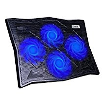 HAVIT Cooling Pad for 14-17 Inch Laptops with Four 110mm Fans at 1100 RPM (HV-F2063A, Black)