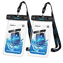 Mpow Waterproof Case Universal Dry Bag Pouch for Outdoor Activities for Devices up to 6.0 [2 PACK]