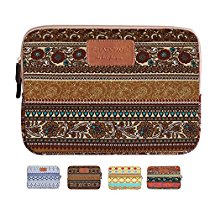 Shadow Elec.Laptop Sleeve, Mosiso Bohemian Style Canvas Fabric Ipad/ Laptop / Notebook Computer / MacBook / MacBook Pro / MacBook Air Sleeve Case Bag Cover