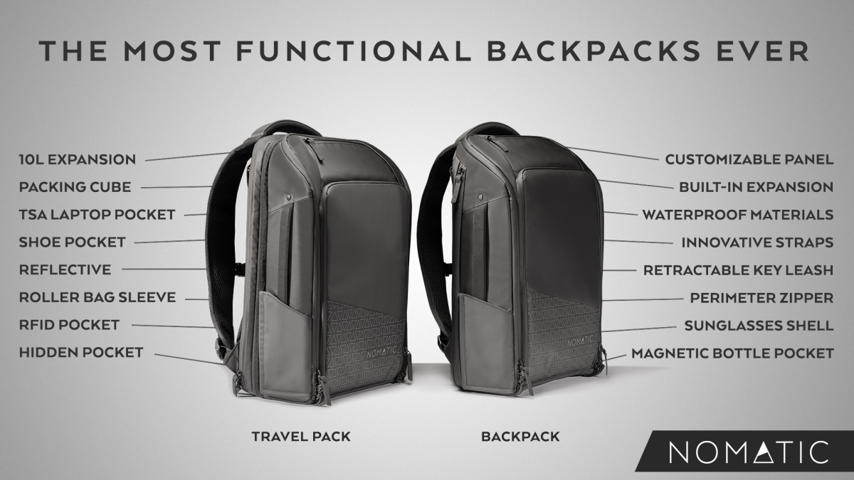 The NOMATIC Backpack and Travel Pack