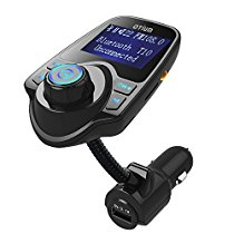 FM Transmitter, Otium Bluetooth Wireless Radio Adapter Audio Receiver Stereo Music Tuner Modulator Car Kit with USB Charger, Hands Free Calling